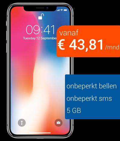 zakelijk iphone X 64GB onbeperkt bellen