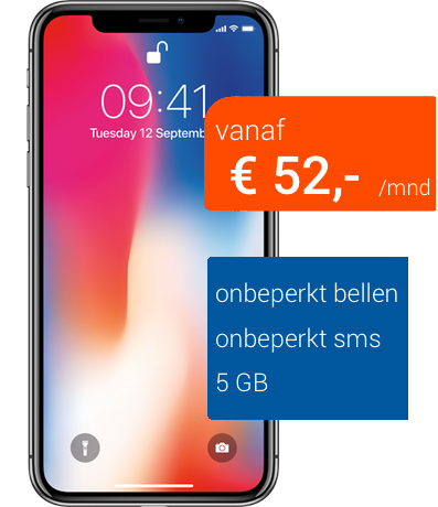 iphone x zakelijk bellen